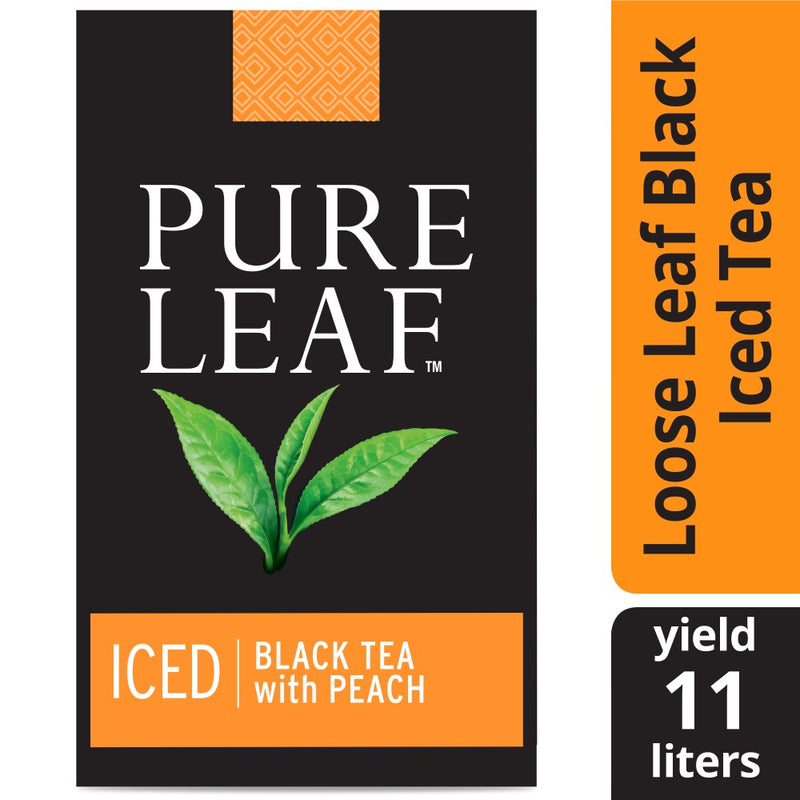 Pure Leaf Iced Loose Tea Pouch Black with Peach 3 gallon, Pack of 24