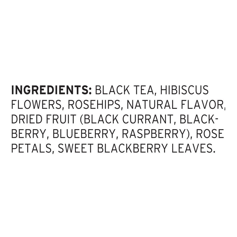 Pure Leaf Iced Loose Tea Pouch Black with Raspberry 3 gallon, Pack of 24