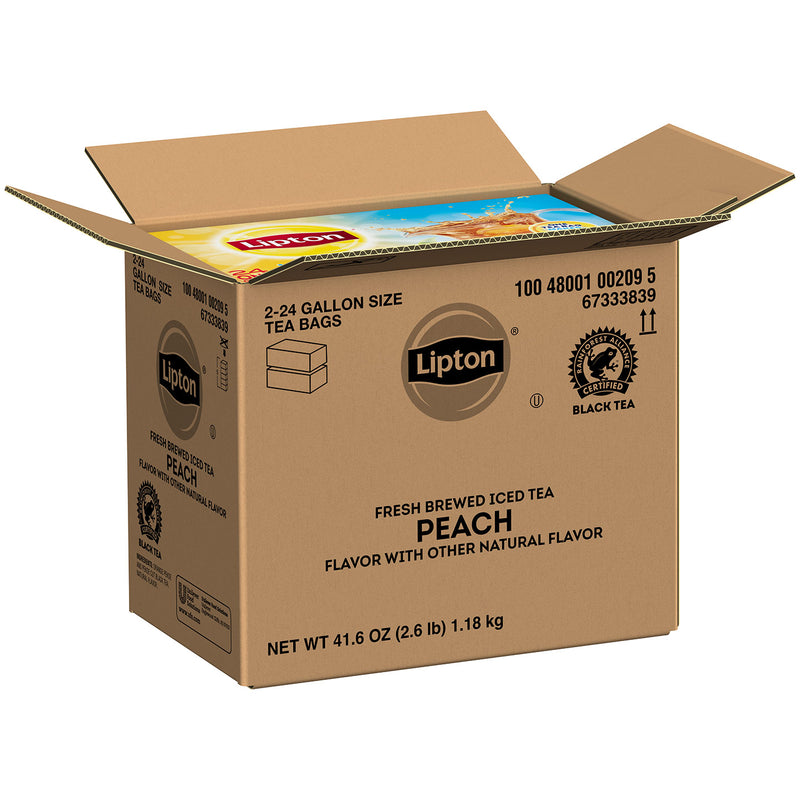 Lipton Unsweetened Iced Tea Peach 1 gal Yield, 24 count, Pack of 2