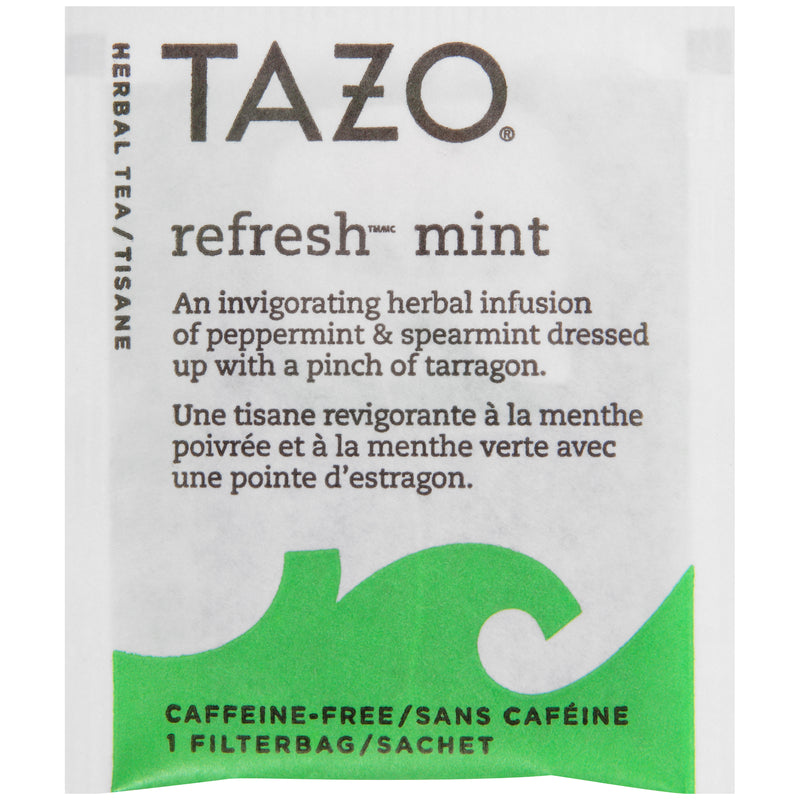 Tazo Hot Tea Filterbag Refresh Mint 24 count Pack of 6
