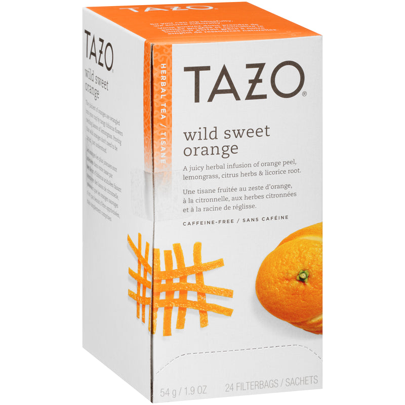 Tazo Hot Tea Filterbag Wild Sweet Orange 24 count Pack of 6