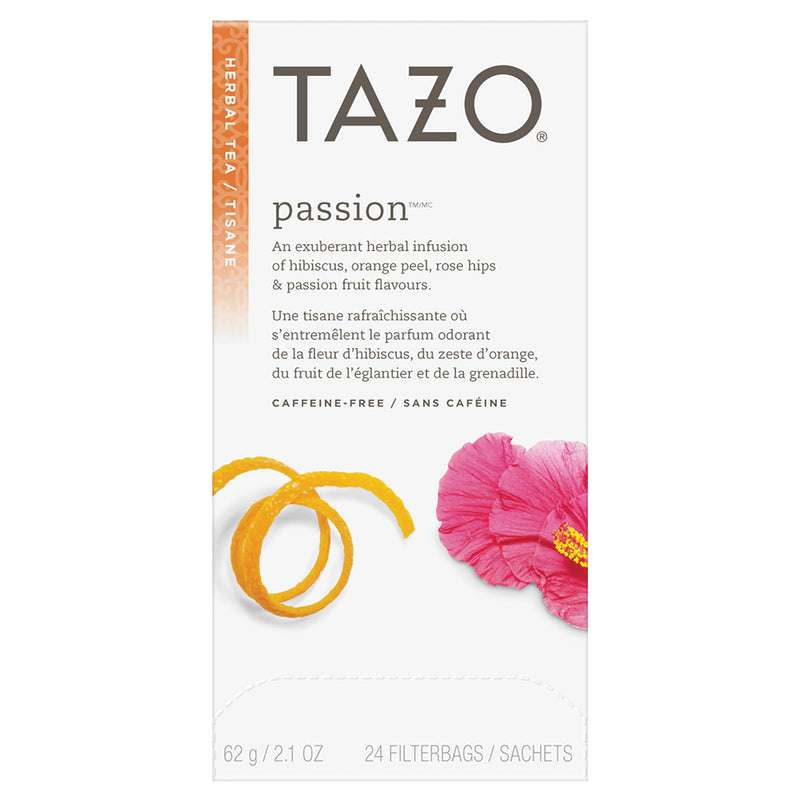 Tazo Hot Tea Filterbag Passion 24 count Pack of 6