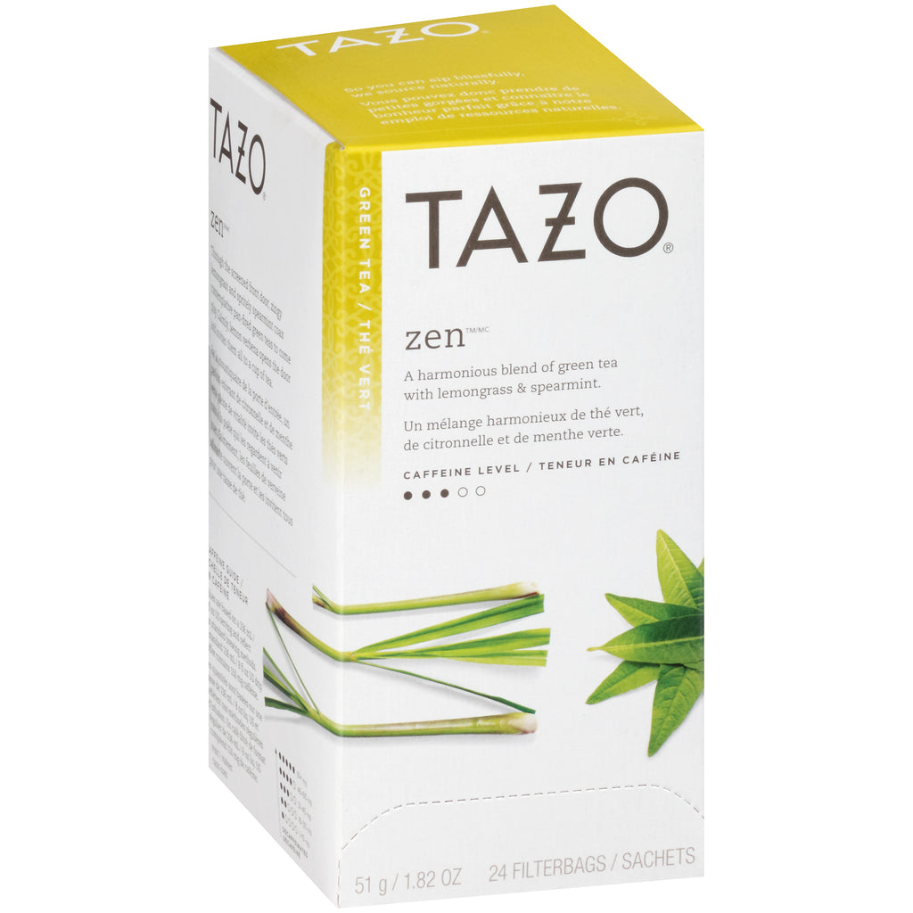Tazo Hot Tea Filterbag Zen Green 24 count Pack of 6
