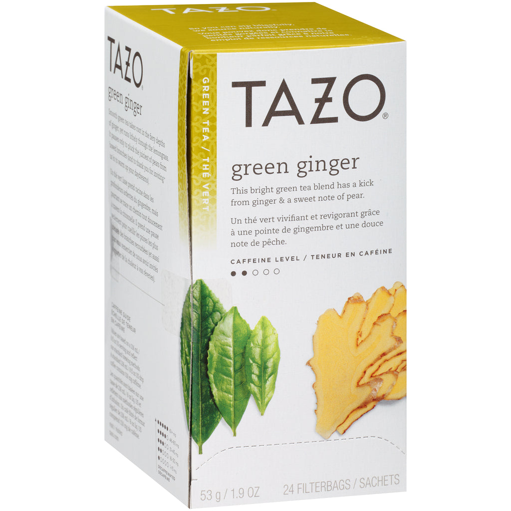 Tazo Hot Tea Filterbag Green Ginger 24 count Pack of 6