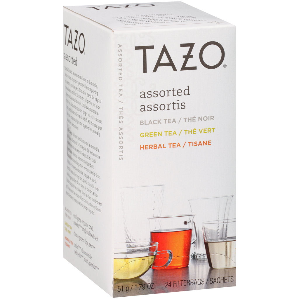 Tazo Hot Tea Filterbag Assorted 24 count Pack of 6