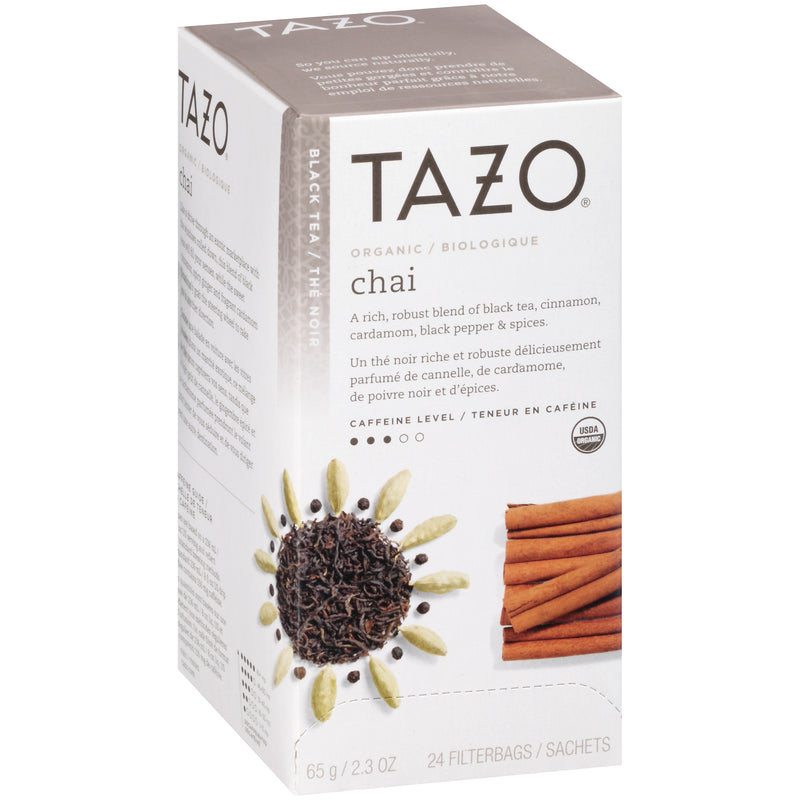TEMPORARILY OUT OF STOCK: Tazo Hot Tea Filterbag Organic Chai 24 count Pack of 6