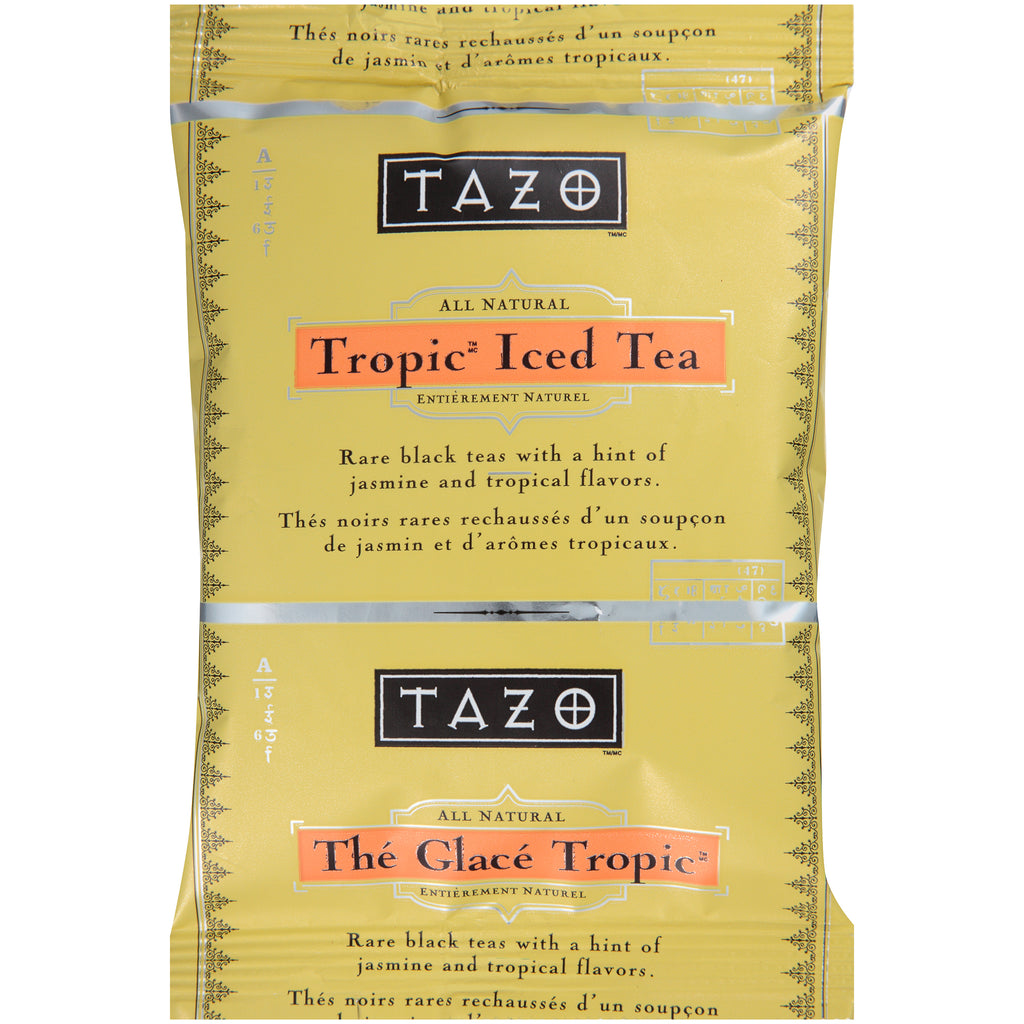 Tazo Fresh Brewed Iced Tea Tropical 3 gallon Pack of 48