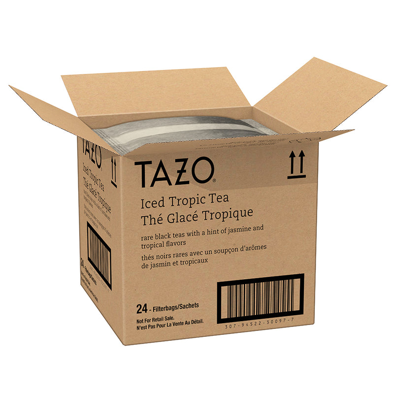 Tazo Fresh Brewed Iced Tea Tropical 1 gallon Pack of 24