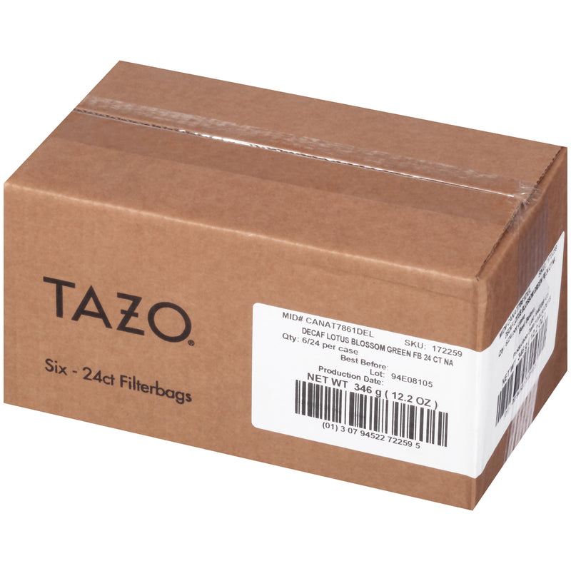 Tazo Hot Tea Filterbag Decaf Lotus Blossom Green 24 count Pack of 6