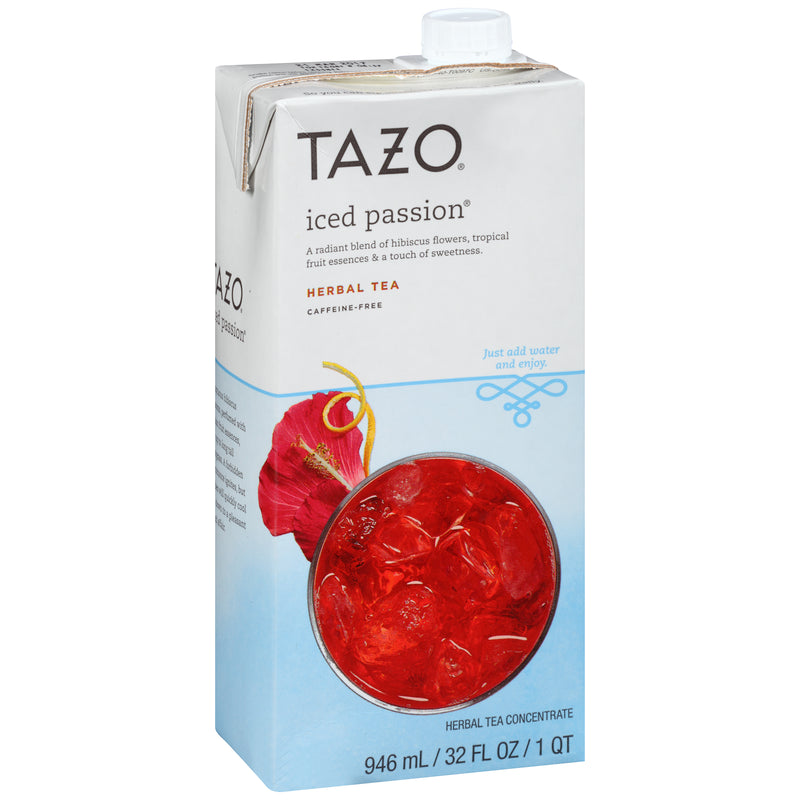 Tazo Iced Tea Concentrate Passion 1:1 32 oz Pack of 6
