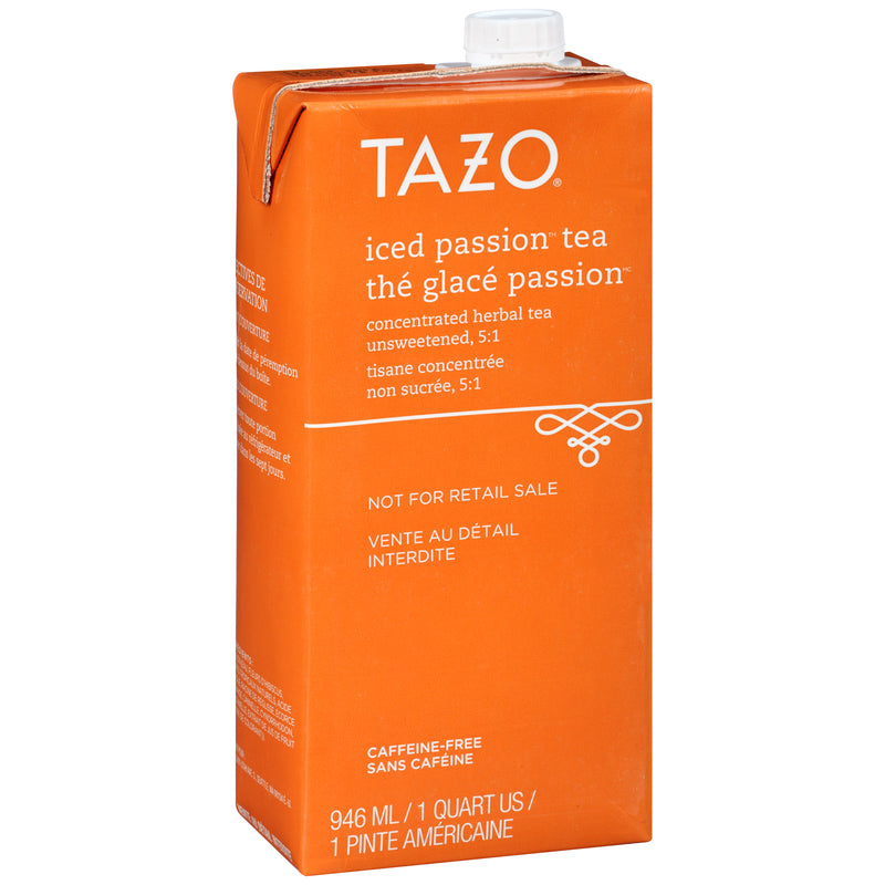 Tazo Iced Tea Concentrate Passion 5:1 32 oz Pack of 6