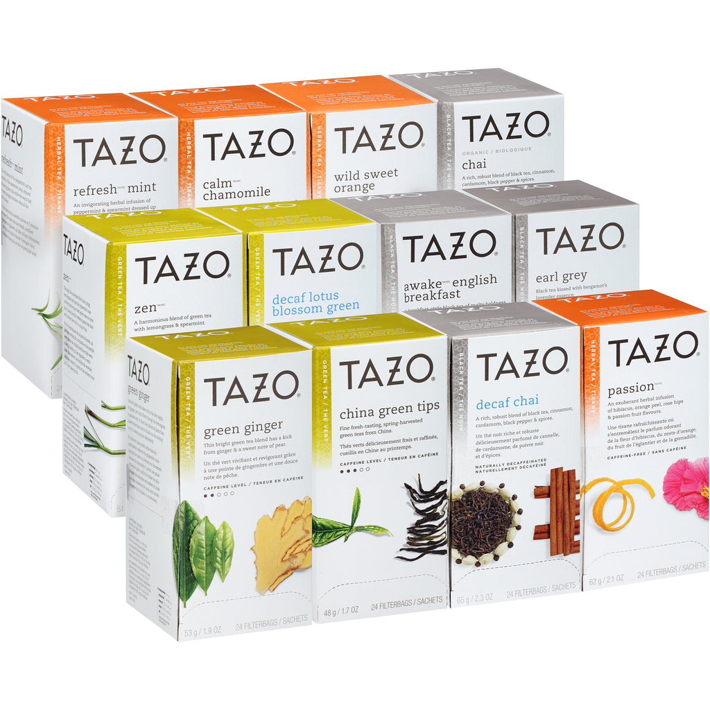Tazo Hot Tea Filterbag Assorted Variety Pack 24 count Pack of 24