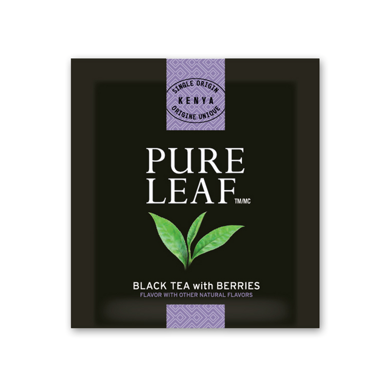 Pure Leaf Hot Tea Bags Black with Berries 25 Count, Pack of 6