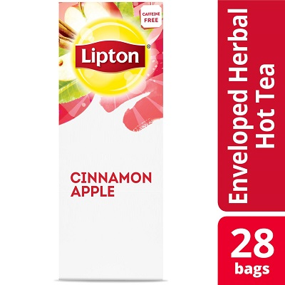 Lipton Cinnamon Apple Herbal Tea 28 Count, Pack of 6