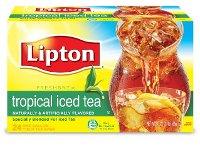 Lipton Iced Tea Unsweetened Tropical for Auto Brew, 1 gal Yield, 24 count, Pack of 2