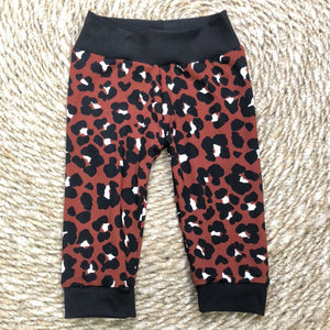 Rust Cheetah Joggers - Rise and Redemption