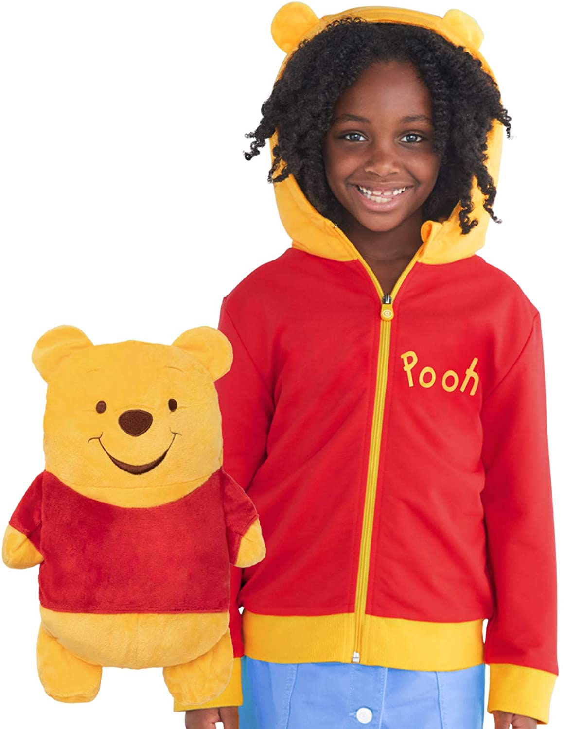 Pooh Hoodie and Soft Plushie For Kids