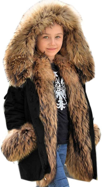 Casual Hooded Warm Trench Jacket For Kids