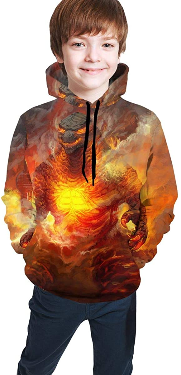 Dinosaur King of Monsters 3D Printed Hoodies For Kids