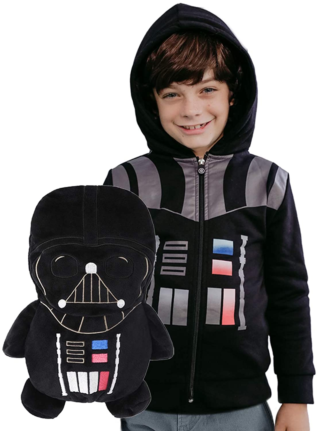 Star Wars Darth Vader Hoodie and Soft Plushie For Kids