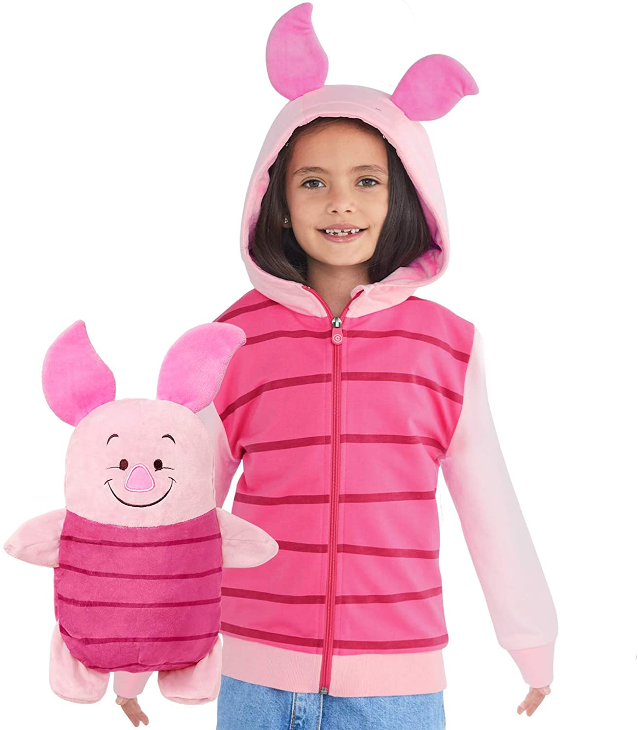 Piglet Hoodie and Soft Plushie For Kids