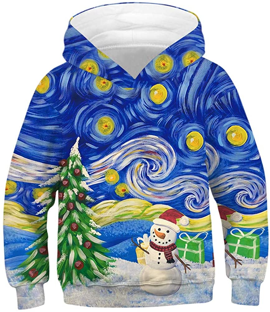SLYRAIME 3D Novelty Pattern Printed Hoodies For Kids