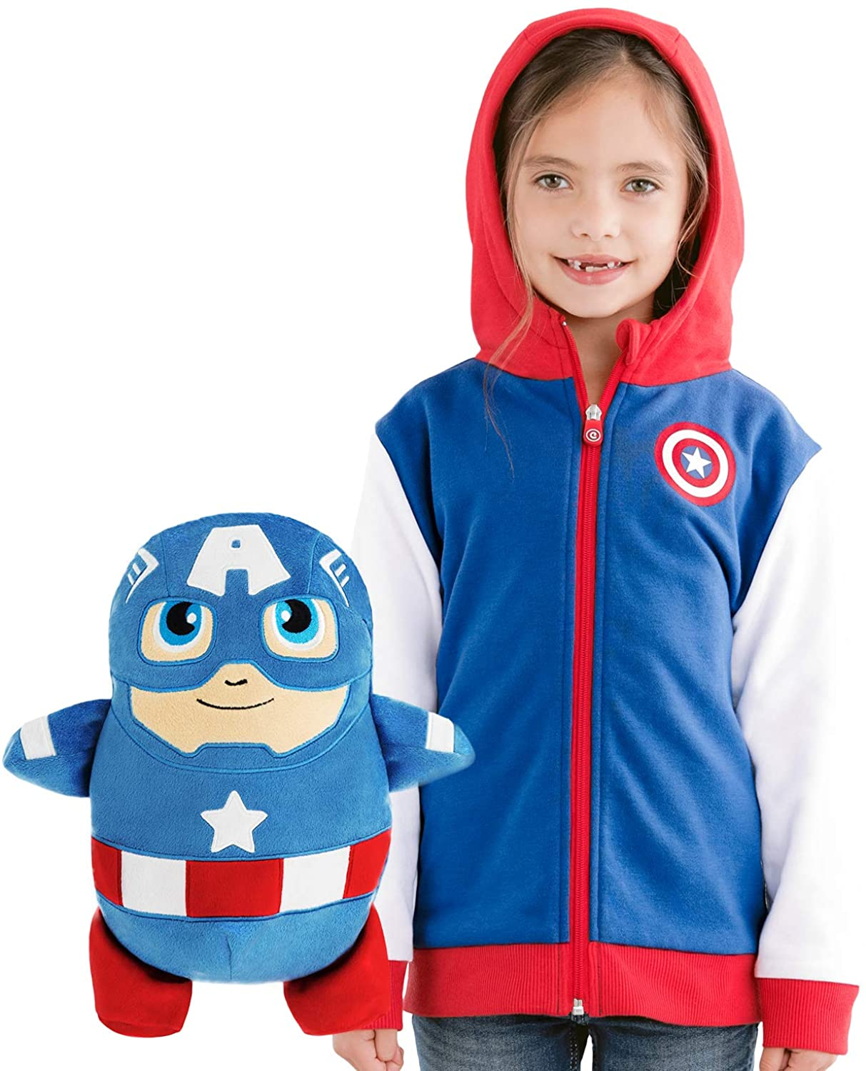Captain America Hoodie and Soft Plushie For Kids