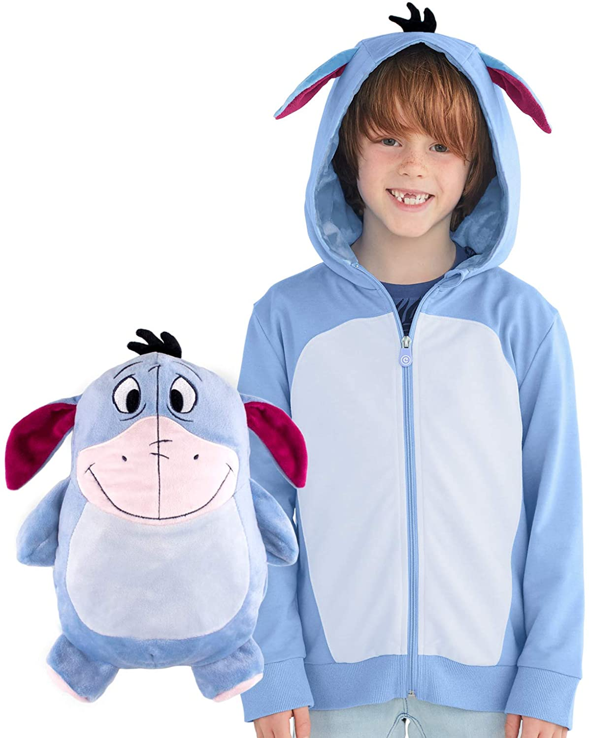 Eeyore Hoodie and Soft Plushie For Kids