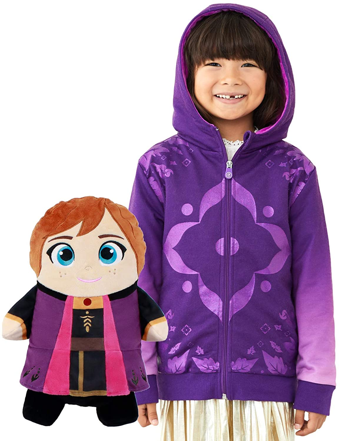 Anna Hoodie and Soft Plushie For Kids