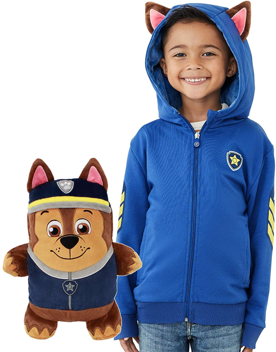 Chase Paw Patrol Toy Hoodie and Soft Plushie For Kids