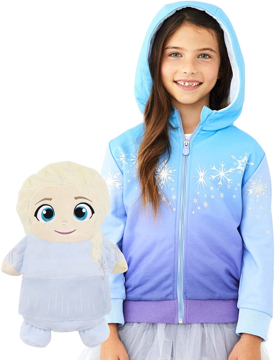 Elsa Hoodie and Soft Plushie For Kids