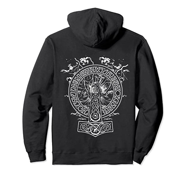 Vikings Rise - Hammer Of Thor- Norse Mythology Hoodie