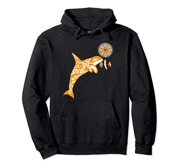 Orca Killer Whale Pacific Native Totem Symbol Gifts Pullover Hoodie