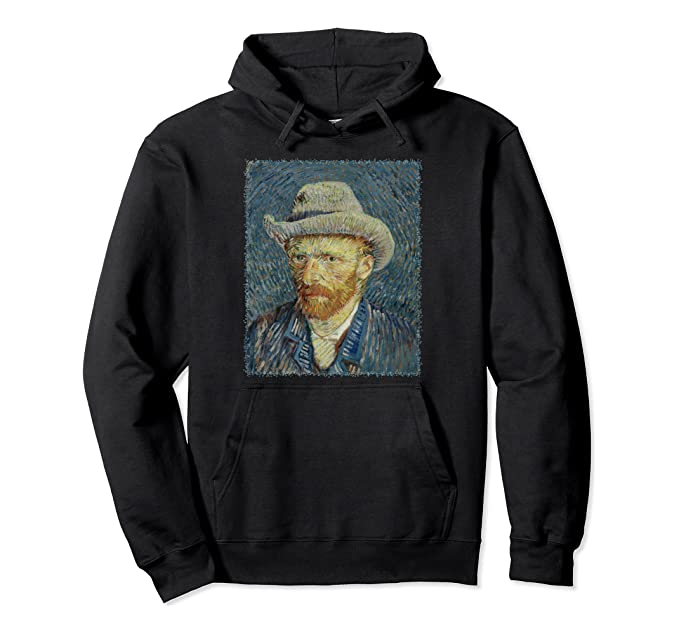 Self Portrait with Grey Felt Hat by Vincent van Gogh Pullover Hoodie