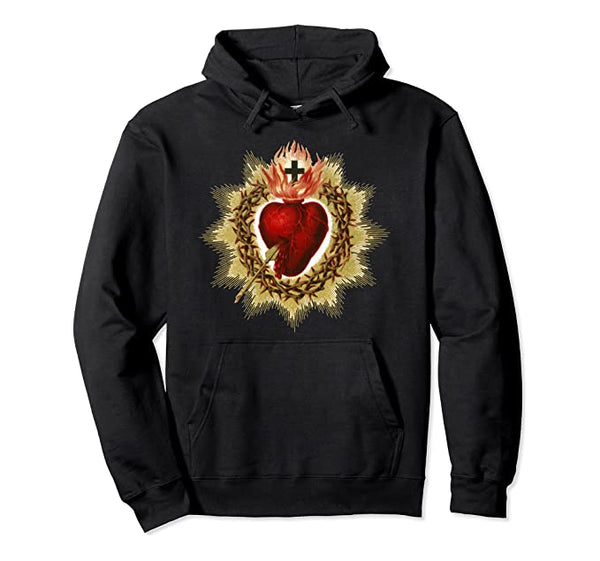Sacred Heart of Jesus Christ Catholic Blessing Art Hoodie Pullover Hoodie