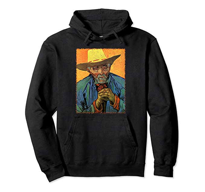 Portrait of a Peasant, Patience Escalier by Vincent van Gogh Pullover Hoodie
