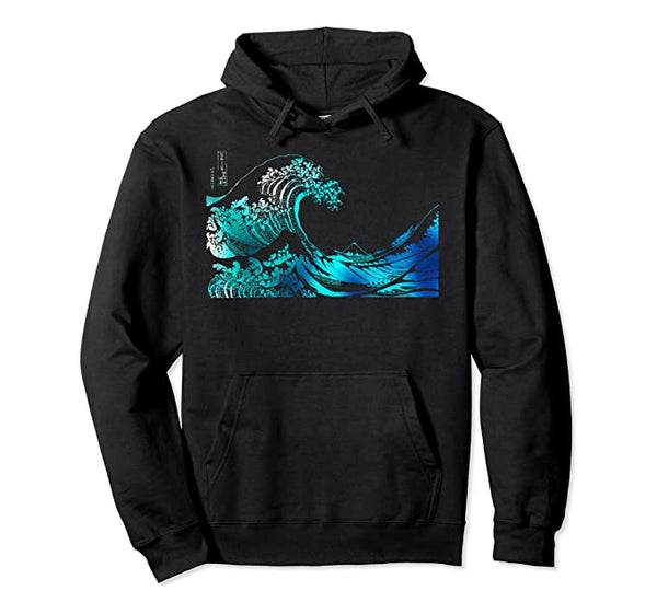 Famous Vintage Japanese Fine Art: Great Wave Stylish Design Pullover Hoodie