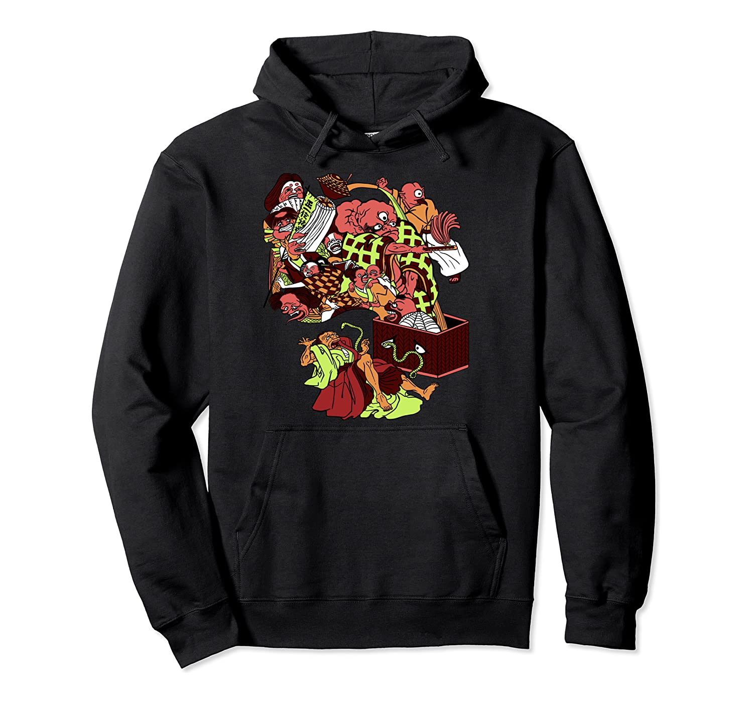 Cool Japan Oni Ogre Tongue-Cut Sparrow troop of demons  Pullover Hoodie