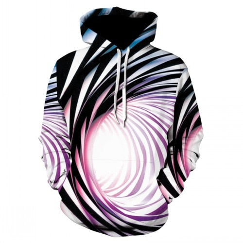 Colorful strip vertigo hypnotic hoodie
