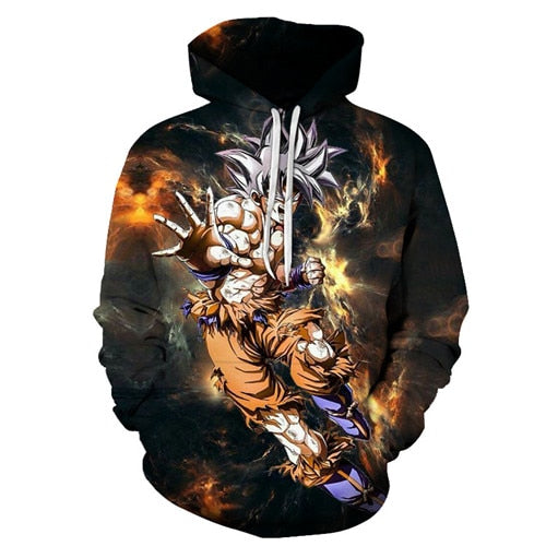 Goku Ultra Instinct Colorful Printed Hoodie