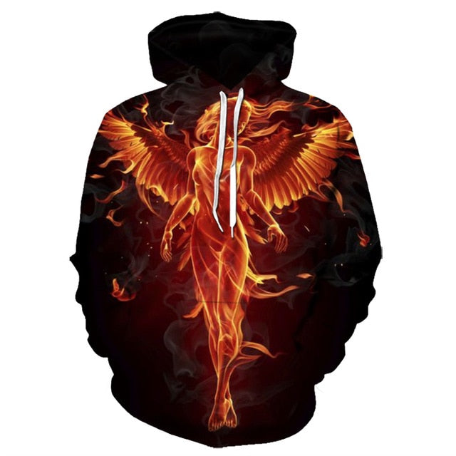Angel In Fire Hoodie