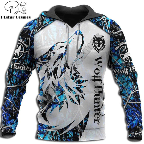 Animal Wolf Hunter pattern 3D Printed Hoodies