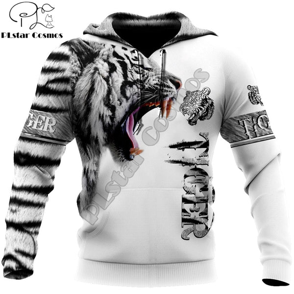 White Tiger Skin 3D All Over Printed Mens Sweatshirt
