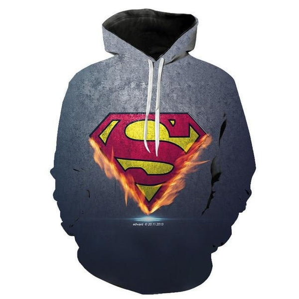 DC Comics Superhero Hoodies - Super man