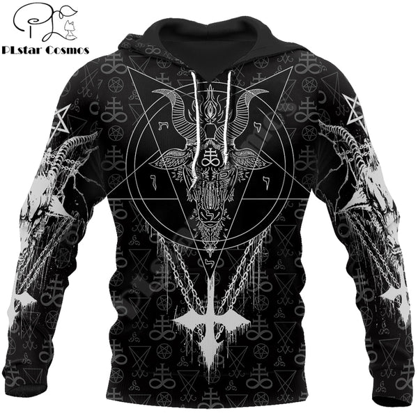 Satanic Tattoo Symbols 3D All Over Printed Hoodie