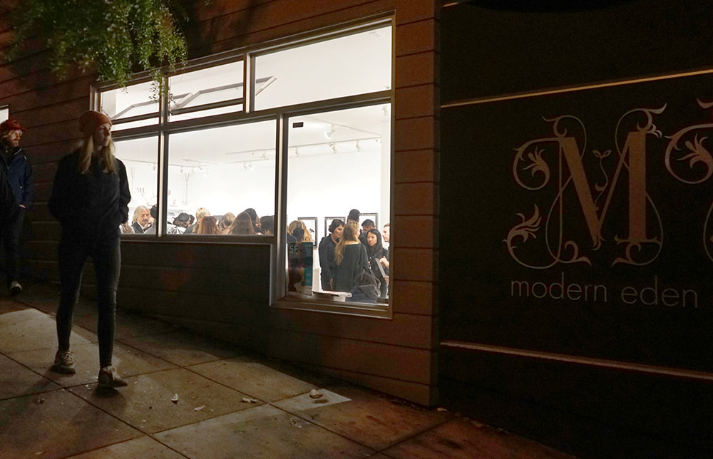 Side view, opening night at Modern Eden
