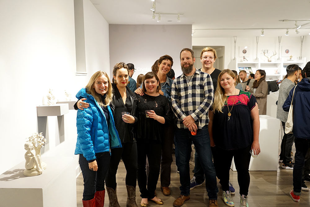 Crystal Morey and crew at Modern Eden Gallery