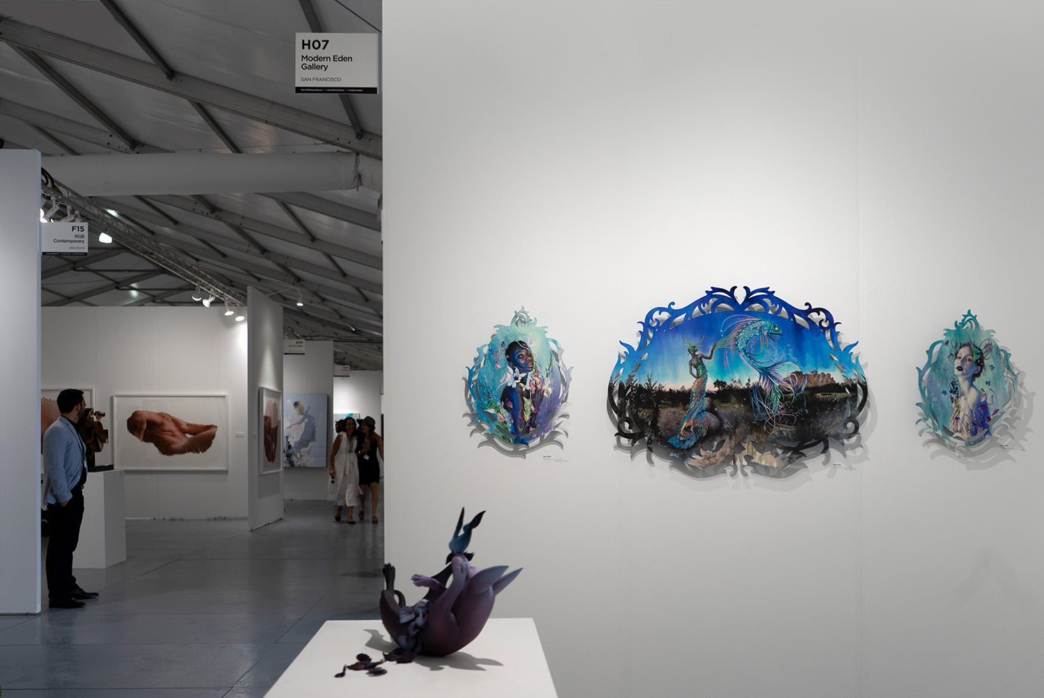 Works by Erika Sanada and Redd Walitzki at Modern Eden Booth H07 SCOPE Miami Beach 2018