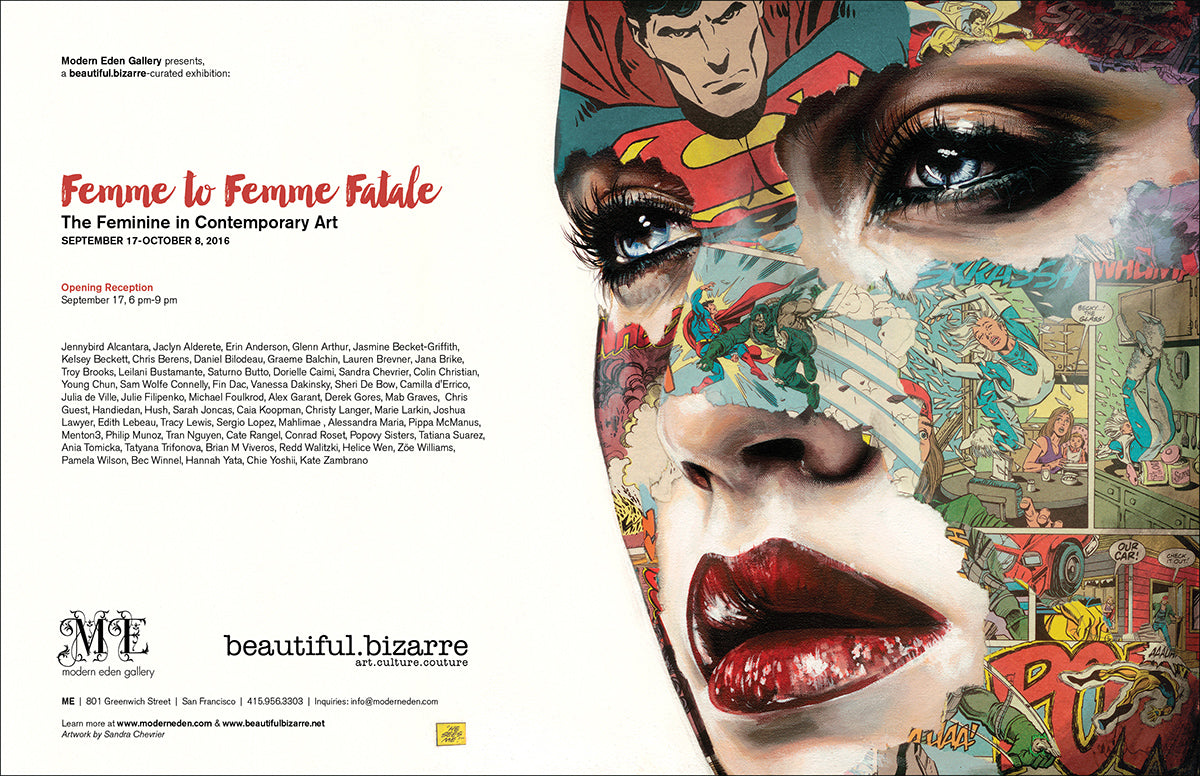 Femme to Femme Fatale: A beautiful.bizarre-curated exhibition at Modern Eden Gallery