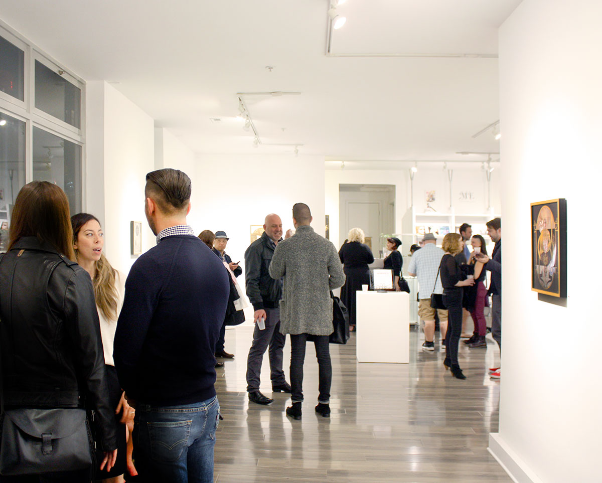 Opening night at Modern Eden Gallery